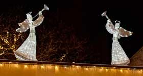 Weihnachtsbeleuchtung Engel.Weihnachtsbeleuchtung Außen Figuren Decoled