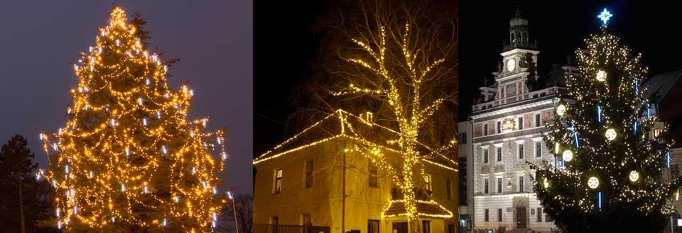 Weihnachtsbeleuchtung für Stadt, warmweiße