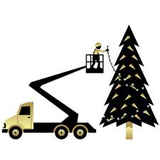 Montage Weihnachtsbeleuchtung