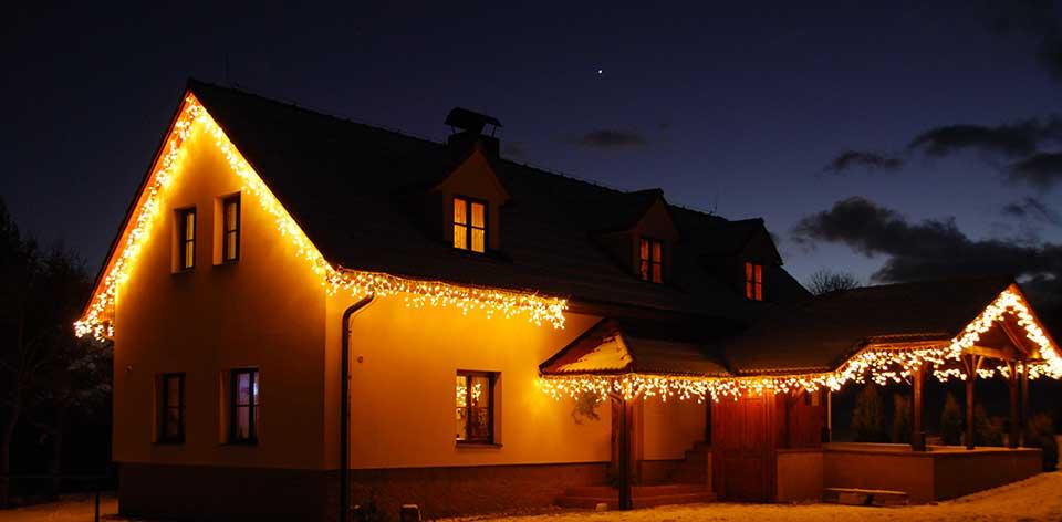 Haus Weihnachtsbeleuchtung.Lichtdekoration Privater Gebaude Deco Led De