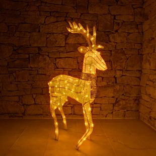 Led Weihnachtsbeleuchtung Rentier.Led Rentier Für Außen 3d Warmweiß