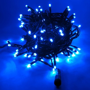 LED Lichterkette 32er blau