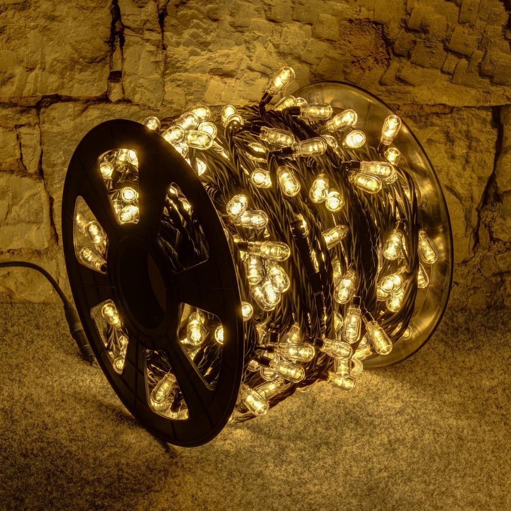 Weihnachtsbeleuchtung Aussen Led Preis.Led Lichterkette 400er Mega Warmweiß 100 M