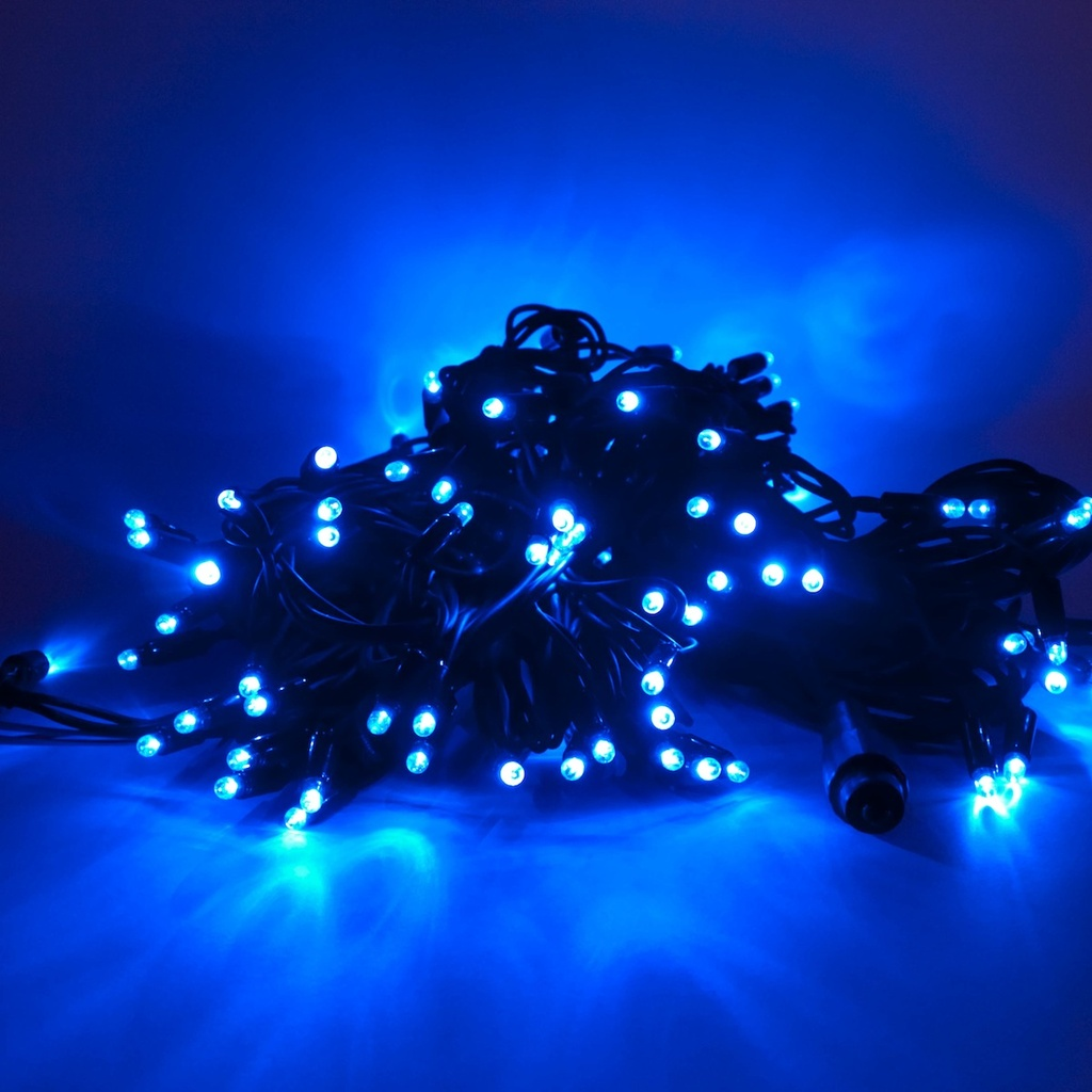 led lichterkette blau