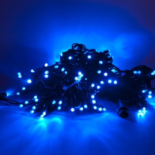 LED Lichterkette 120er blau