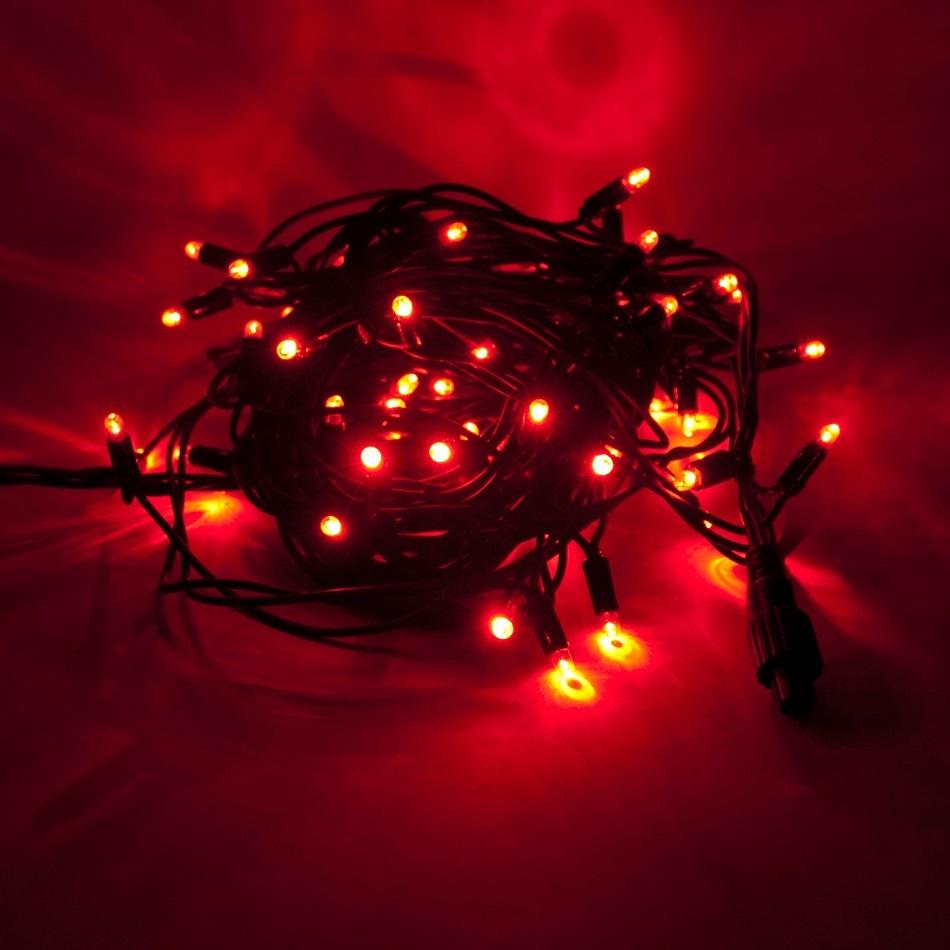 LED Lichterkette 120er Rot