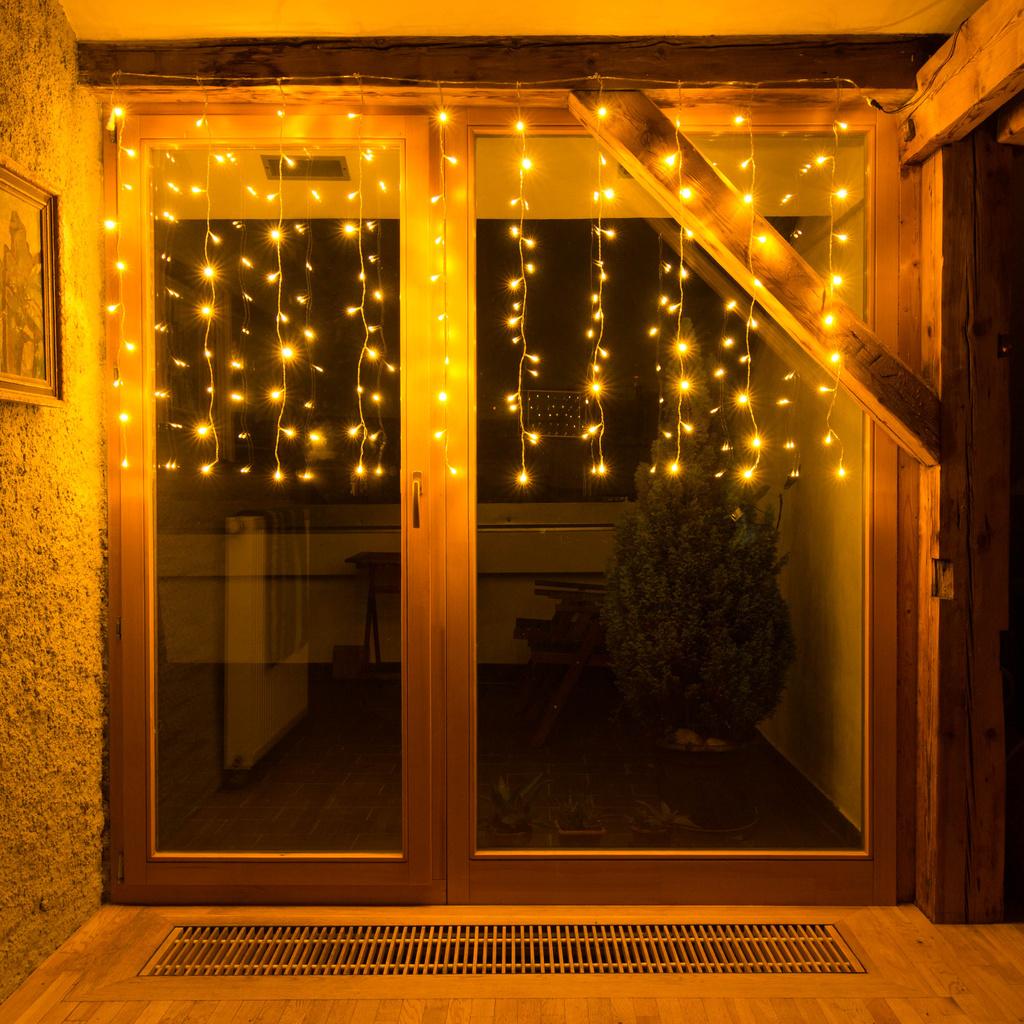 Lichterkette Vorhang, 100er LED, warmweiß, Qualität von deco-LED.de