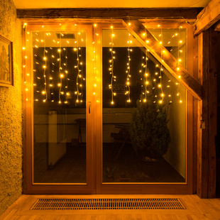 Lichterkette Vorhang, 100er LED, warmweiß