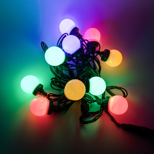 LED Party Lichterkette 10er ''Golf-Ball''